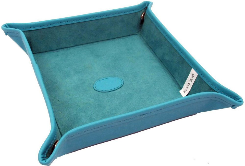 54123611 Blue Leather Snap Tray