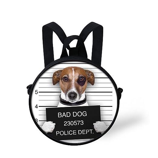 d2a4295b8b9 HUGS IDEA Fun Bag Dog Small Backpack for Preschool Baby Mini Round School  Cross Body Bookbags