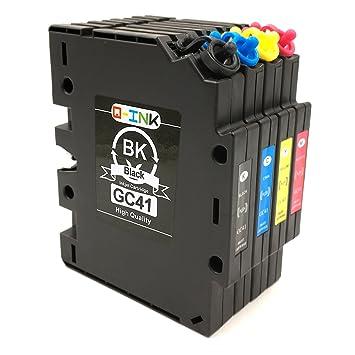 QINK 4PK para Ricoh GC-41 transferencia de calor Sub compatible ...