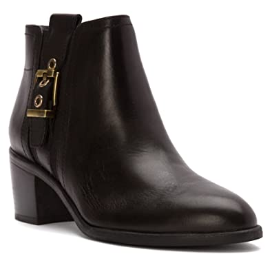 Eminent Womens Ankle Booties Black Leather