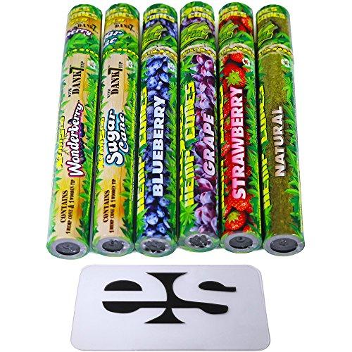 Cyclones Variety Pack Pre-Rolled Flavored Hemp Wraps (6 Packs) Total 10 Wraps with ES Scoop Card by Cyclones