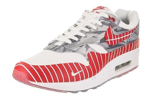 super popular d2ecb 896e8 Nike Men s Air Max 1 LHM White University Red Casual Shoe 4 Men US
