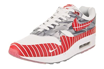 Mens Nike Air Max 1 LHM WhiteUniversity Red