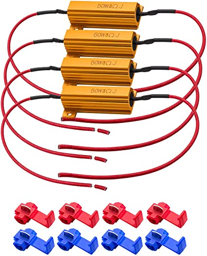 4X50W Car LED Load Resistors Turn Signal Blinkers//Fog Lights Fix Hyper Flash Kit