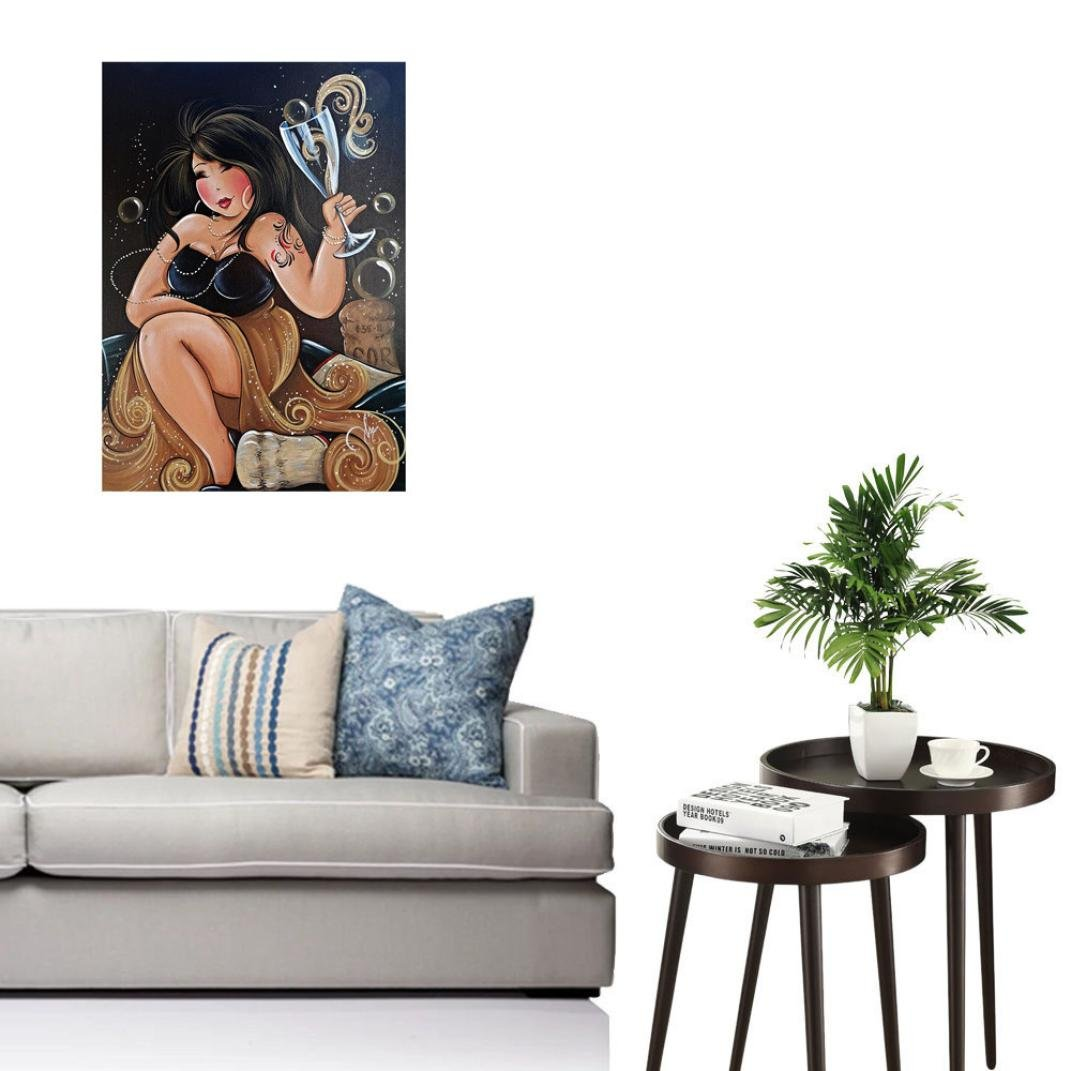 ☀DIY Diamond Painting Cross Stitch Craft Kit Smdoxi Wall Stickers for Living Room Decoration☀Drunk Woman So Sexy (Multicolor) by Smdoxi (Image #2)