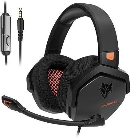NUBWO Auriculares estéreo para PS4, Xbox One, con cancelación de Ruido y Control en línea para PS4/Xbox 1/PC/Mac: Amazon.es: Electrónica