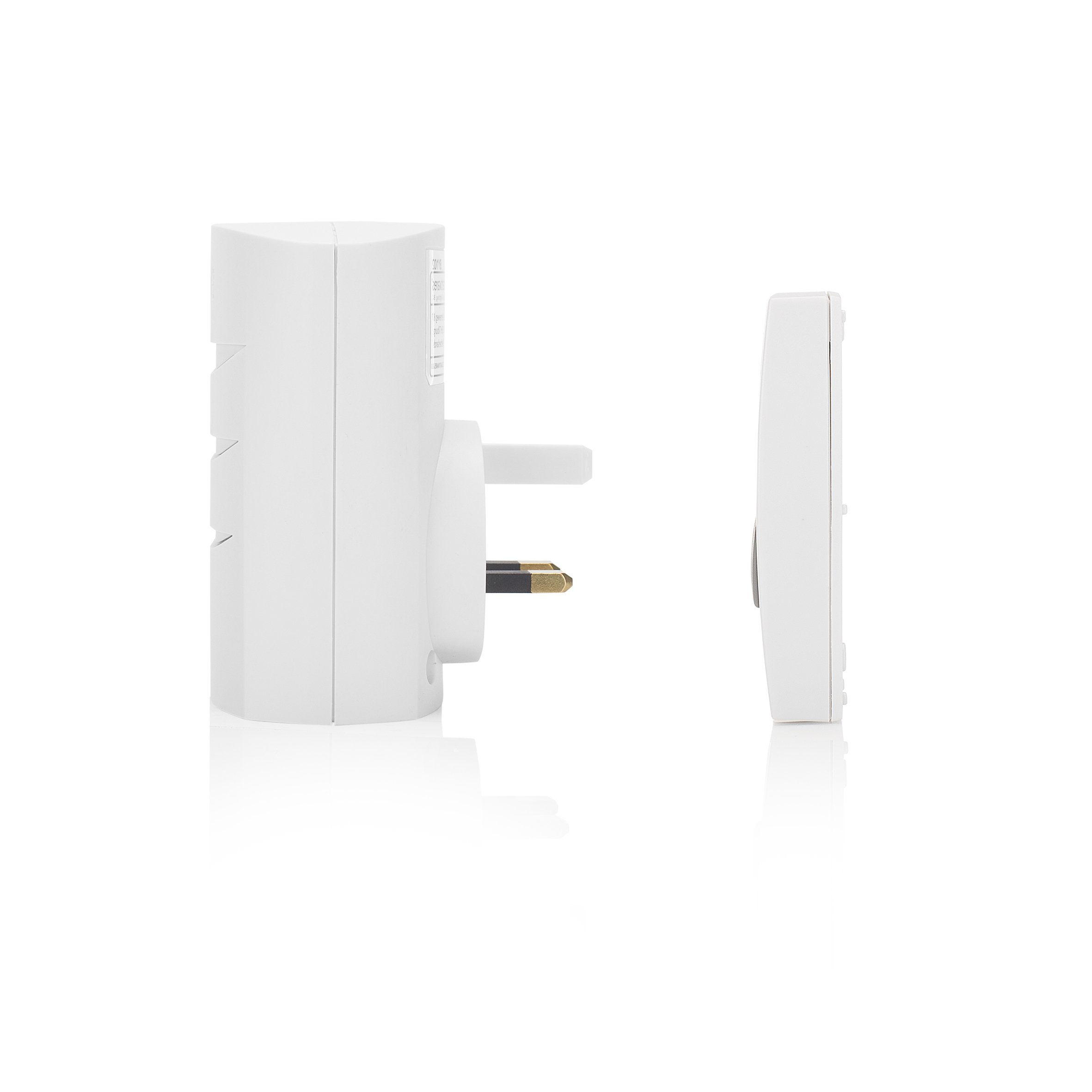 Byron DB303 30m Wireless Plug-Through Door Chime Kit with 1 Sound