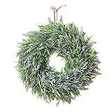 Artificial Lavender Flower Wreath Door Hanging Garland Wedding Window Decor