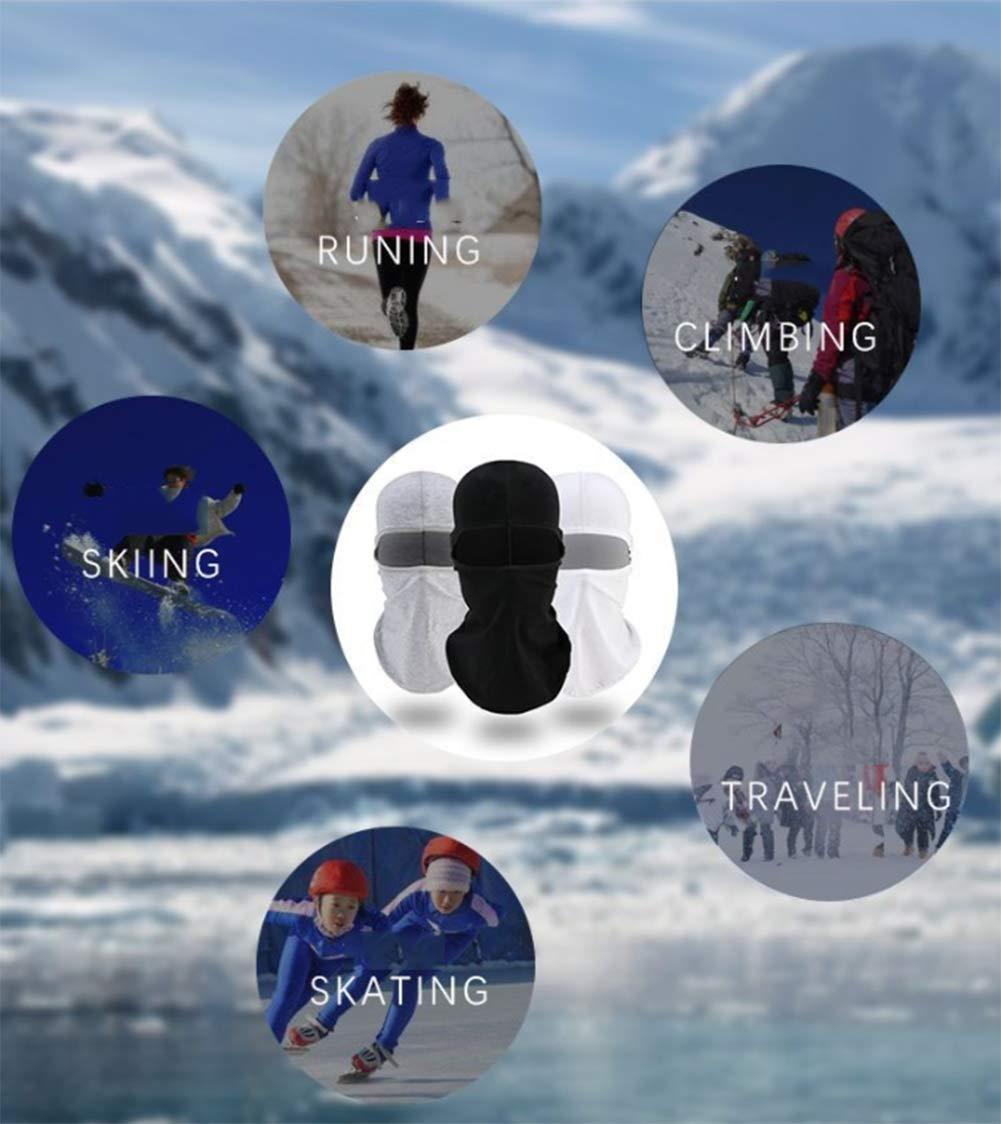 Homme Femme Taille Universel LYQR 3 Pi/èces Cagoules Coupe-Vent Anti Poussi/ère Ski Masque Mat/ériel De Coton /Élastique Cache-Cou Doublure De Casque Calotte