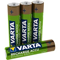 VARTA Recharge Accu Endless Energy AAA Micro Ni-Mh accu verpakking met 4 stuks 550 mAh - tot 3500 laadcyclussen, lage…