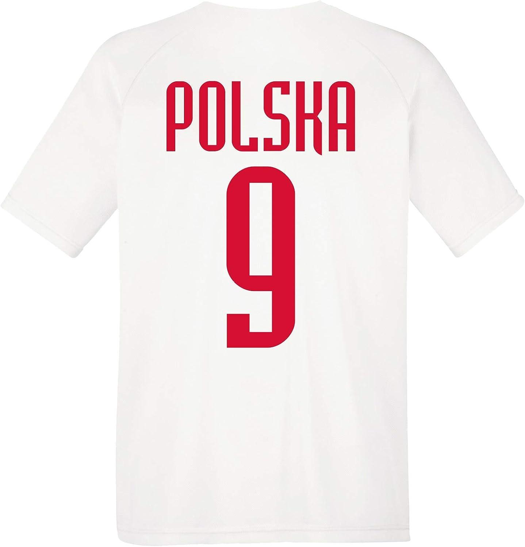 aprom Polen Kinder Trikot BR9 Polska Sport Fussball WM EM Kids