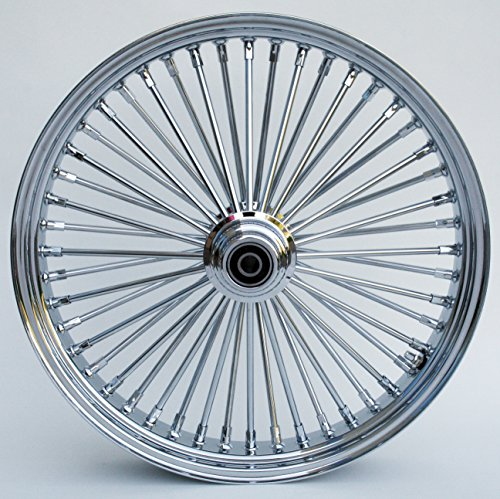 Ultima King Spoke Chrome Front Single Disc Wheel 21x3.5 for 2000-06 Harley Models (Front Wheel Single)