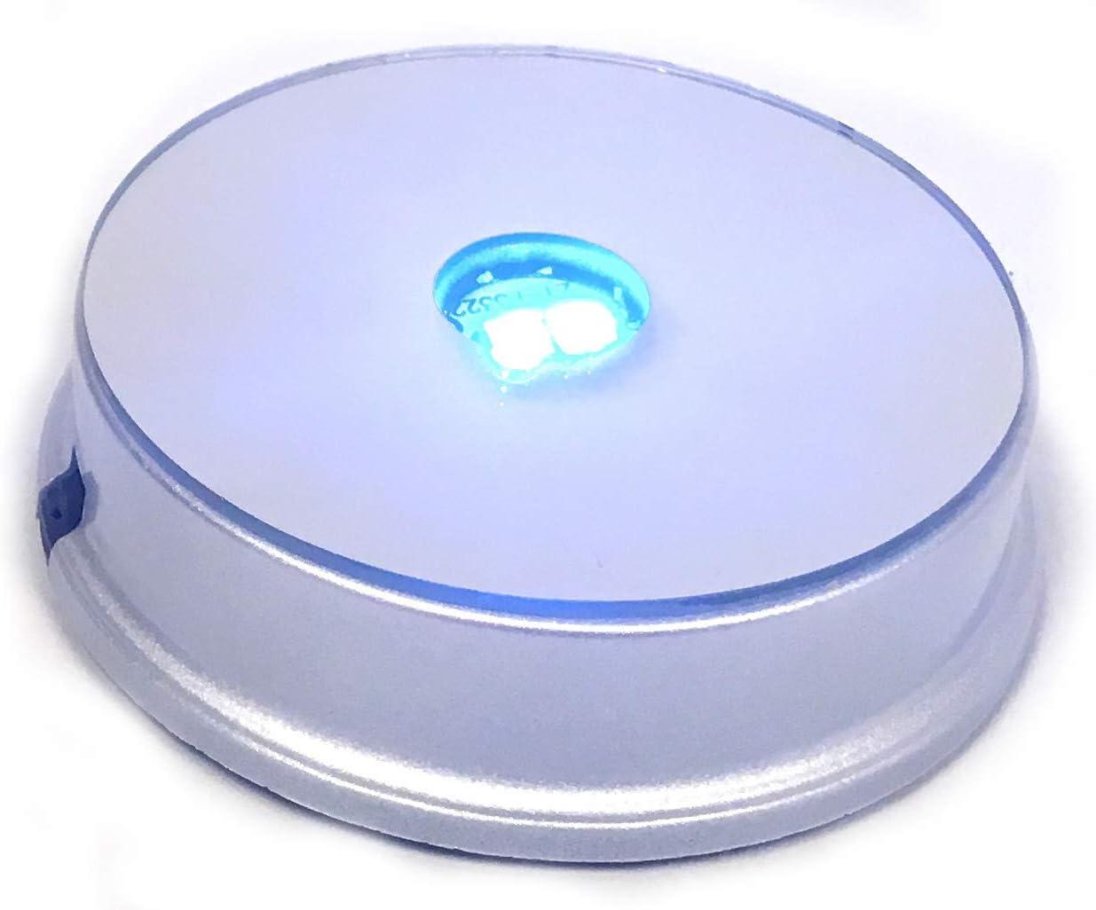 Selenite tower LED mirrored base light multi colored Light box 3x3 base Crystal Night Light Crystal base light Selenite Lamp