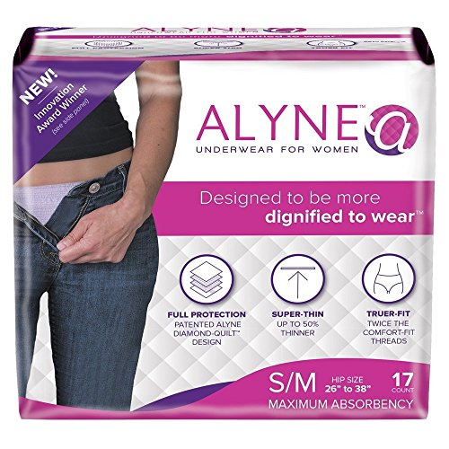 Alyne Ultra-Thin Underwear for Women, Small/Medium, 17 Count