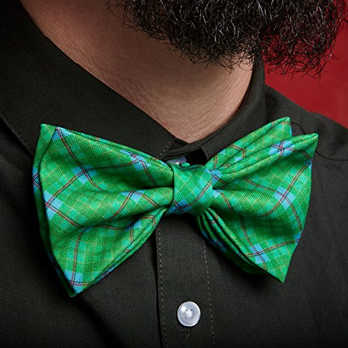 sensación cómoda varios diseños diseño hábil Pajaritas Originales - Tartán Verde claro, Azul y Rojo ...