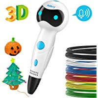 Nulaxy 3D Printing Pen, First Robot 3D Drawing Pen with Voice Prompts Automatic Feeding, Best Birthday Holiday Gifts Toys to Inspire Kids Creativity – Include Bonus PLA Filaments