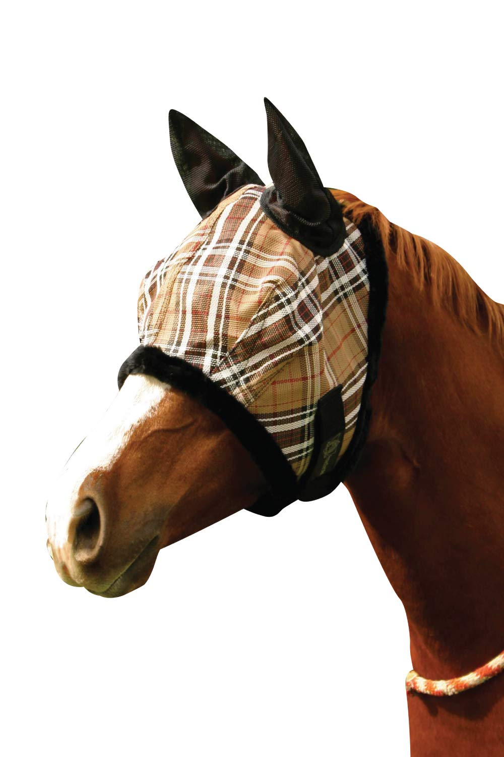 Kensington Signature Fly Mask with Removable Nose and Soft Mesh Ears — Protects Horses Face, Nose and Ears from Biting Insects and UV Rays While Allowing Full Visibility