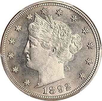 1892 p v nickels proof nickel pr65 pcgs at amazon s collectible Rare Nickel Coins image unavailable