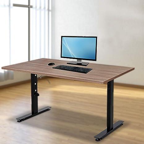 Happybuy Dual Motor Electric Standing Desk Frame Height Adjustable Sit Stand Up Desk Leg 264lb Capacity Diy Workstation Base 47 2 70 9 Tabletop