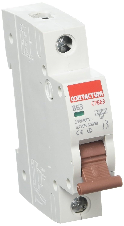 63 A Contactum CPB63 Type B SP MCB Pack of 12 4.5 kA