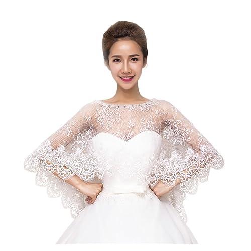 1270ff299c JUNGEN Bolero chal de mujer para vestido de novia (Marfil)