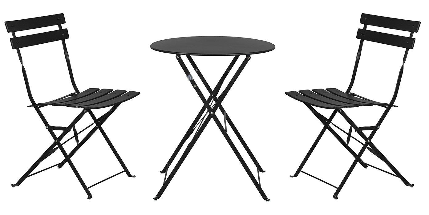 bistro set garnitur 3 tlg sitzgruppe metall stuhl tisch. Black Bedroom Furniture Sets. Home Design Ideas