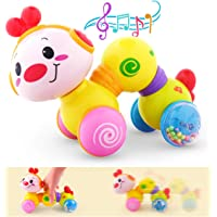 Vanmor Baby Musical Toys, Musical Inchworm Toy with Light up Face Caterpillar Crawling, Press and Go Toddler Educational…