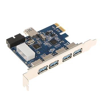 MagiDeal PCI-E A USB 3.0 Tarjeta de Expansión PCI Express 4 Puertos con 19 Pines para PC de Escritorio Herramientas