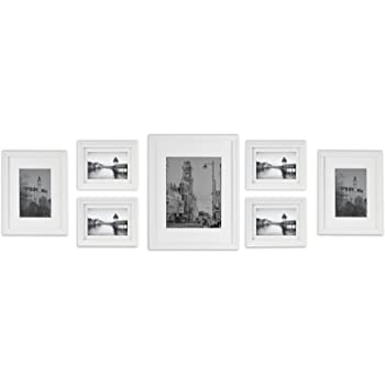Amazon.com - Golden State Art Wall Frames Collection, White Wood ...