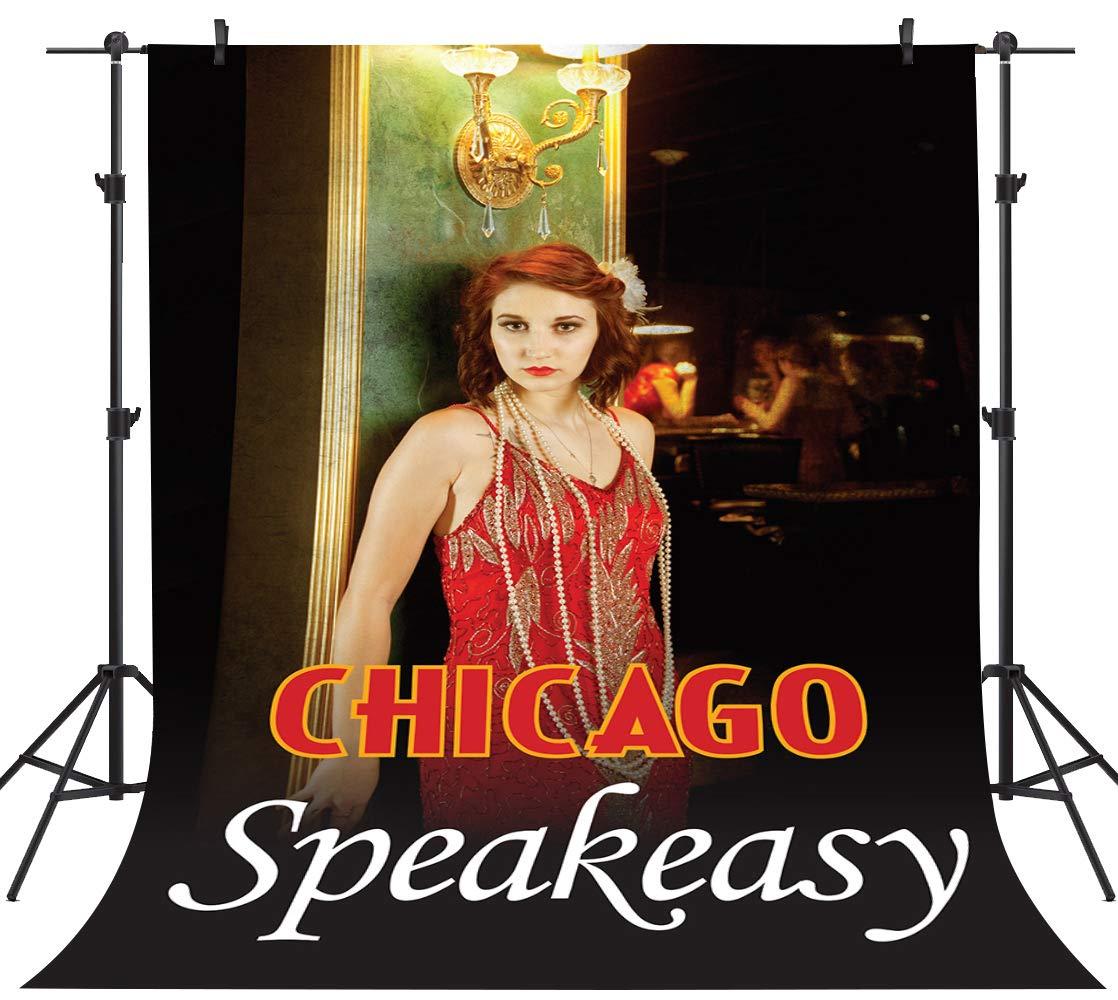 PHMOJEN 背景幕 シカゴ スピーイージー レディ レッドドレス 写真背景 ビニール 5x7フィート ポスター写真スタジオ小道具 LYPH265   B07Q2F9MHT