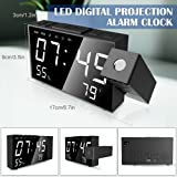 """LBell Projection Alarm Clock, 6.3"""" Projection"""