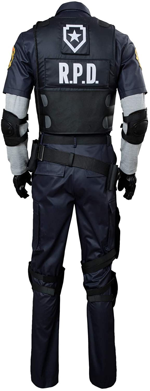 tianxinxishop Uomo Leon Scott Kennedy Costume Travestimento Gioco Cosplay Uniforme della Polizia Set Completo