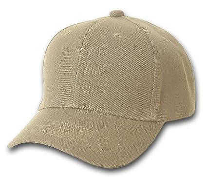 TOP HEADWEAR Baseball Cap Hat- Khaki at Amazon Men s Clothing store  Men  Baseball Caps 496fbba456b