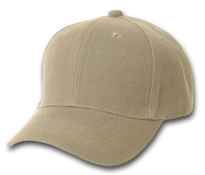 TOP HEADWEAR Baseball Cap Hat- Khaki at Amazon Men s Clothing store ... 07959c45570