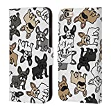 Head Case Designs French Bulldog Dog Breed Patterns Leather Book Wallet Case Cover For Apple iPhone 6 / 6s