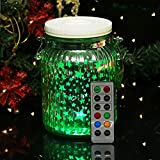 Cheap HOME MOST 6″ Color Changing Hanging Mason Jar Lights with Remote (Star Patterns, 5hr Timer) – Mason Jar Lanterns with Lights Battery Jar Lights – Glass Jar Decorative Silver Jars Decoration Home Decor