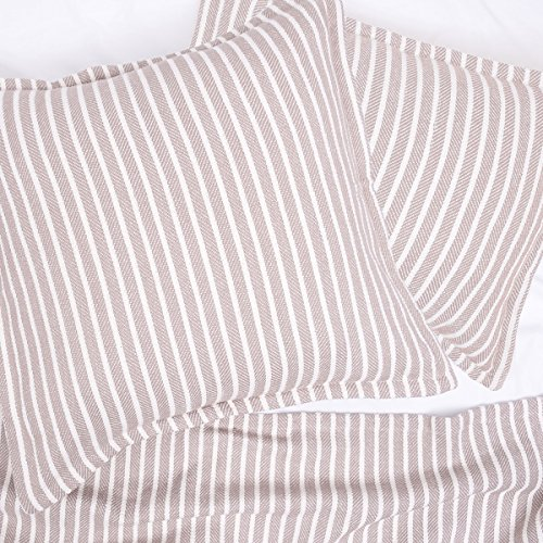 Dune Stripe - carol & frank Bengal Stripe Dune King Blanket King Blanket Dune