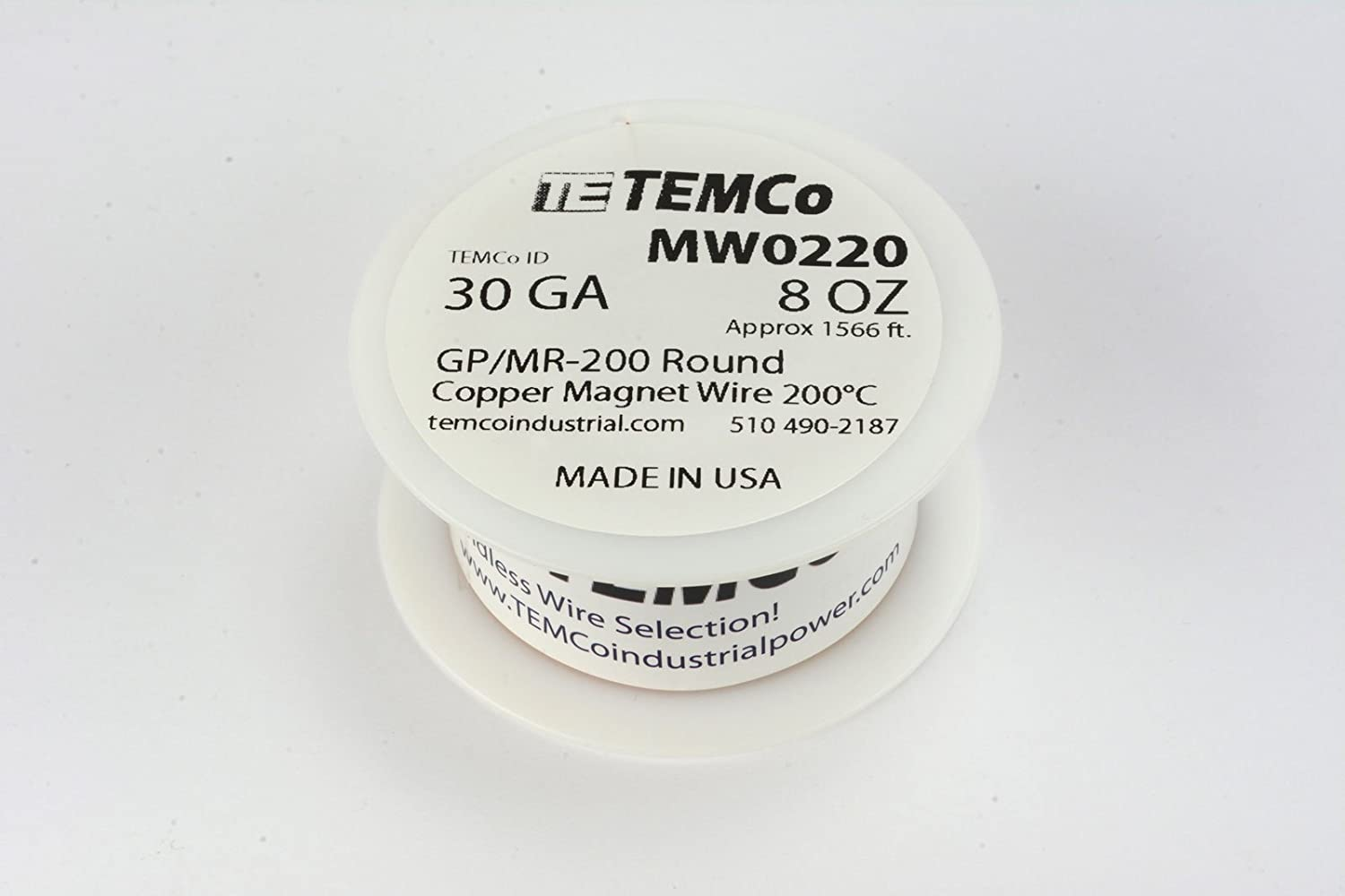 Amazon.com: TEMCo 30 AWG Copper Magnet Wire - 8 oz 1566 ft 200°C ...