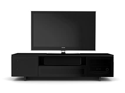 BDI Nora 8239 Quad Wide Entertainment Cabinet, Gloss Black