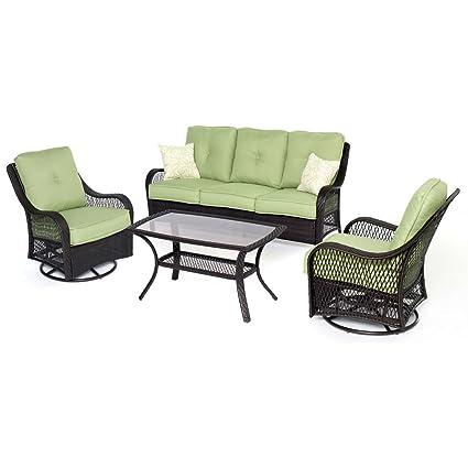 Miraculous Amazon Com Envelor Hanover Orleans 4 Piece Outdoor Resin Unemploymentrelief Wooden Chair Designs For Living Room Unemploymentrelieforg