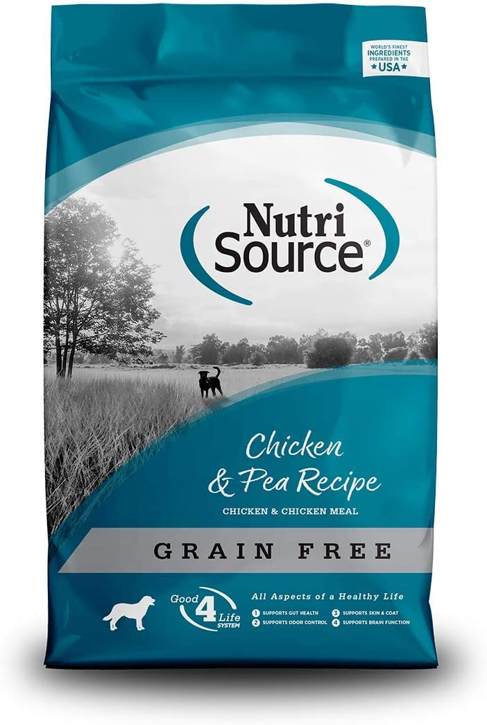 Tuffy's Pet Food NutriSource Grain Free Dog Food, 15 lbs, Chicken & Pea