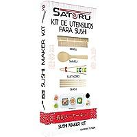 Satoru Sushi Maker Kit, Kit de utensilios para preparar sushi, Sin sabor, 12 piezas