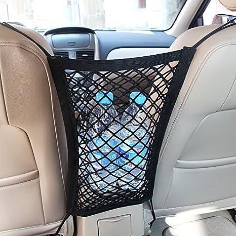 Mictuning Universal Kfz Auto Netz Schutznetz Organizer Mit Halter Für Beutel Kinder Spielzeug Wasser Auto