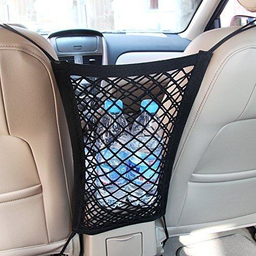 MICTUNING Universal KFZ Auto Net Seat Organizer Halter für Beutel Gepäck Haustiere Kinder Stopper