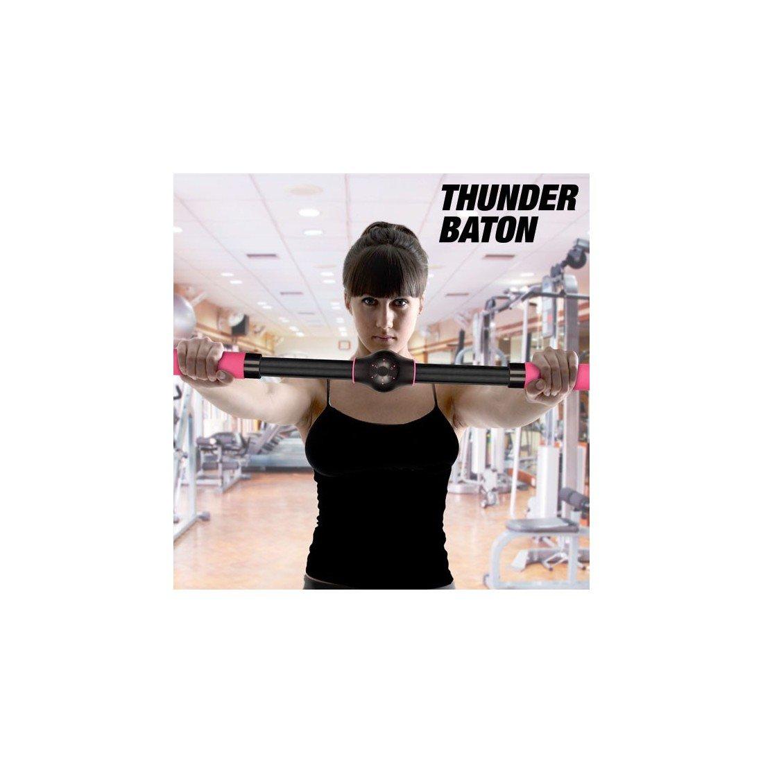 Apolyne Thunder Baton - Barra de Ejercicios Realzasenos, Adulto, Negro, Gimnasio en Casa IGS IG108214