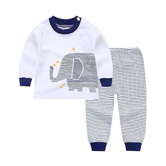 Blaward - Pijamas Enteros - Redondo - Manga Larga - para bebé niña Blanco Elefante 6