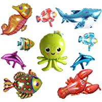 Ocean Animals Foil Balloons Sea Animal Balloon Dolphin Shark Octopus Lobster Sea Horse Starfish Cartoon Tropical Fish…