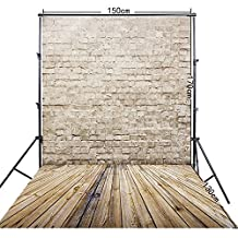 FiVan™-CA 5x10ft khaki brick wall photography background for photo studio FF-069