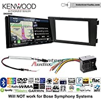 Volunteer Audio Kenwood Excelon DNX994S Double Din Radio Install Kit with GPS Navigation Apple CarPlay Android Auto Fits 1999-2006 Audi A6