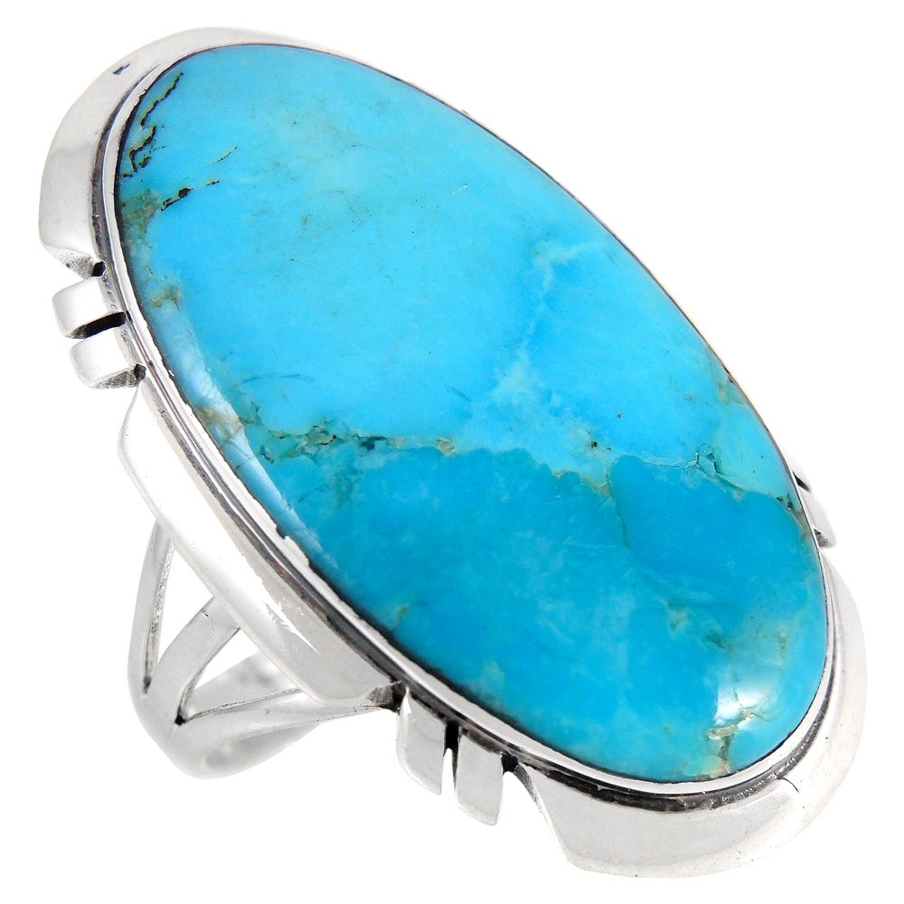 Sterling Silver 925 Genuine Turquoise Ring (9)